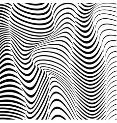 abstract wavy stripes pattern beautiful geometric vector image
