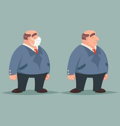 adult businessman character retro cartoon design vector image