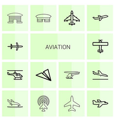 aviation icons vector image