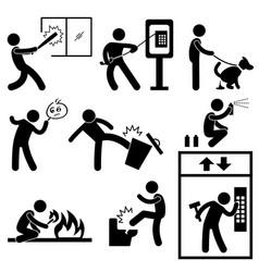 Bad morale vandalism gangster icon symbol sign vector