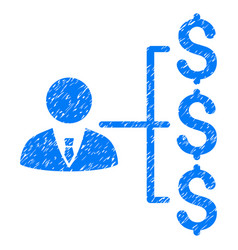 Banker payments grunge icon vector