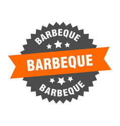 barbeque sign barbeque orange-black circular band vector image