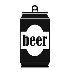 beer can icon simple style vector image