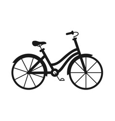 Black and white monochrome bicycle vector