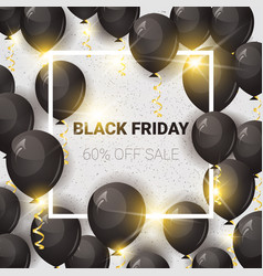 black friday 60 percent off sale poster with air vector image