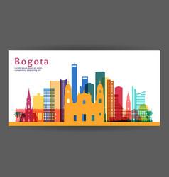Bogota colorful architecture vector