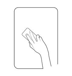 Border smartphone in hand 9 vector