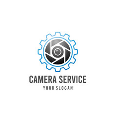 camera service logo vector image