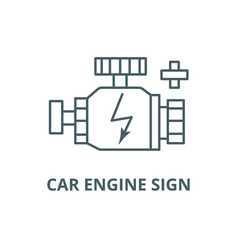 car engine sign line icon car engine sign vector image