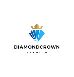 diamond king crown logo icon vector image