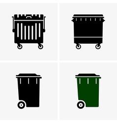 Dumpster vector image
