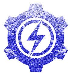 Electric cogwheel textured icon vector