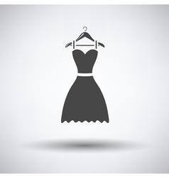 Elegant dress on shoulders icon vector image