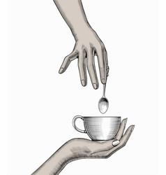 favorite morning coffee mug vector image