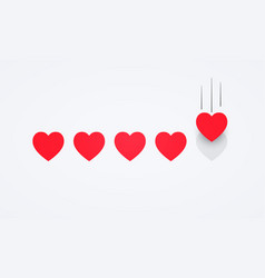 feedback flat style giving five heart rating vector image
