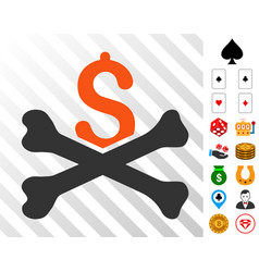 Financial crash icon with bonus vector