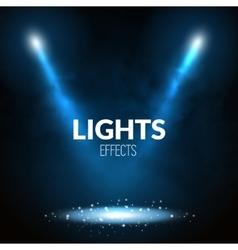 Floodlights spotlights illuminates scene with vector