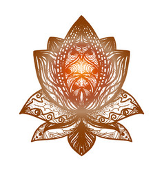 flower lotus tattoo vector image