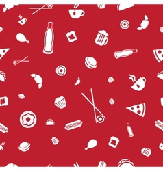 Food icons seamless pattern vector