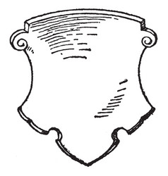 german shield are dates back to 16th century vector image