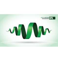 green spiral vector image