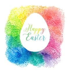 greeting floral cards for Easter vector image