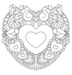 hand drawn doodles happy valentines day with symbo vector image
