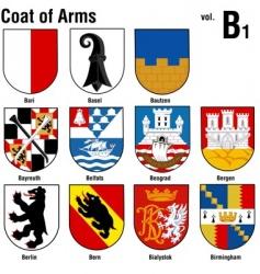 Heraldry coat arms vector