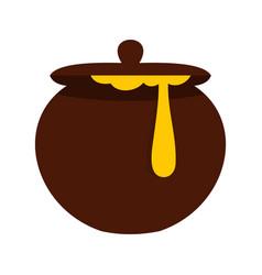 honey pot icon flat style vector image