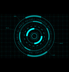 hud gui fui circle target sci-fi round head-up vector image