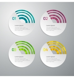 infographics 4 circle options vector image