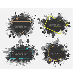 Ink spots set collection in black vector