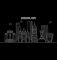 kiev silhouette skyline ukraine - kiev vector image