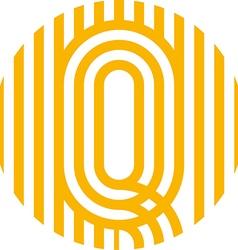 letter line q alphabet design vector image vector image