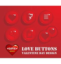 Love Buttons Design vector