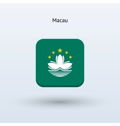 Macau flag icon vector