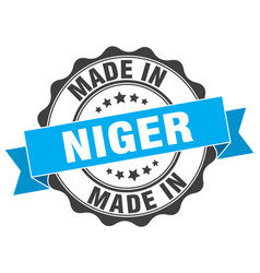 Made in niger round seal vector
