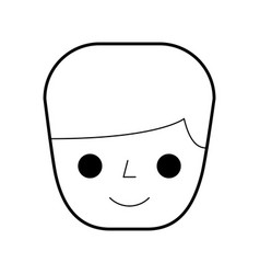man worker cartoon people character head vector image