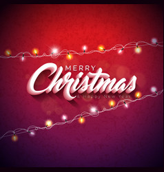 merry christmas with 3d vector image