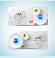 modern business horizontal banners vector image