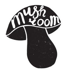 Mushroom graphic drawing vector