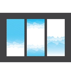 Nature background blue sky and cloud element 004 vector