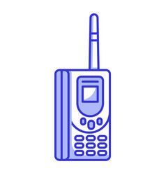 Old retro vintage brick cellular phone vector
