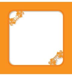 Orange frame vector