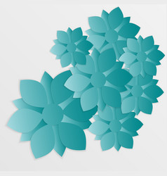 paper flower origami11 vector image