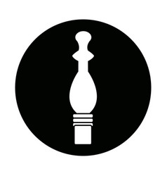 Pepper mill condiment cooking on white background vector
