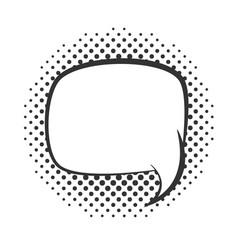 pop art speech bubble cartoon template halftone vector image