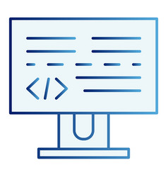 programming flat icon development blue icons in vector image