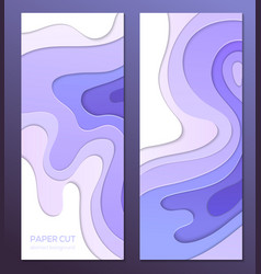 purple abstract banner - set of template vector image