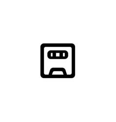 radio icon symbol sign vector image